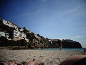 Cala En Porter, white villas & fine sand beach