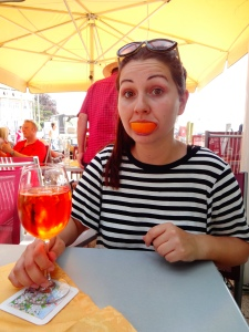 This is what happens when you give me Apperol Spritz!
